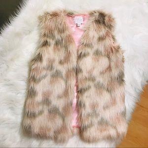 Children's Place faux fur vest